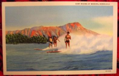 1930 - Surfing at Waikiki