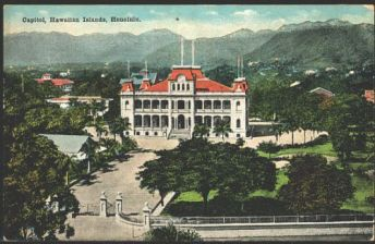 1920 - Iolani Palace from the Capitol