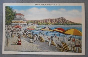 1930 Waikiki Tourists