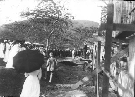 Hawaiʻi Hall Cornerstone Laying, 22 January 1912 (University Archives Photograph GPB-006)