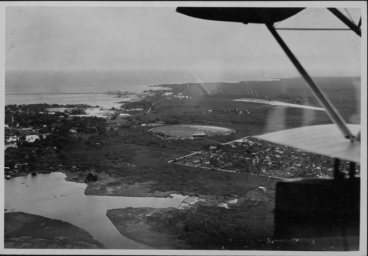 Aeriel view of Hilo, Hawaii Island - ca 1920