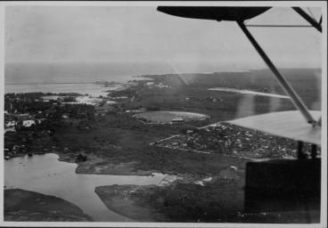 Aeriel view of Hilo, Hawaii Island - ca 1920