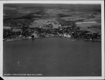 Areal view Hilo - June 1929