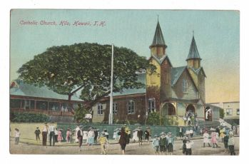 1920's St Joseph Catholic Mission & Church Hilo Hawaii